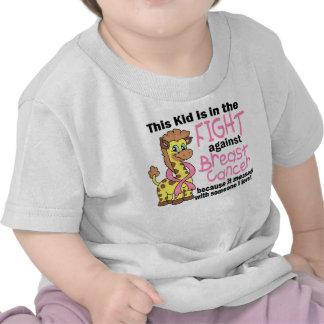Niño en la lucha contra cáncer de pecho camiseta