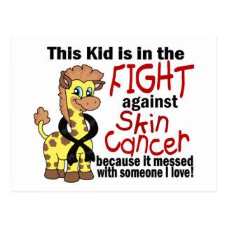 Niño en la lucha contra cáncer de piel postal