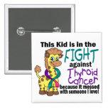 Niño en la lucha contra cáncer de tiroides pin
