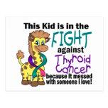 Niño en la lucha contra cáncer de tiroides postales