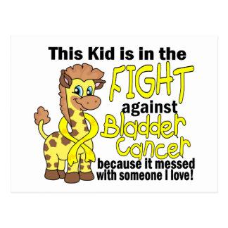 Niño en la lucha contra cáncer de vejiga postal
