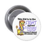 Niño en la lucha contra cáncer del esófago pins