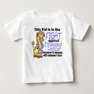 Niño en la lucha contra cáncer del esófago playera de bebé