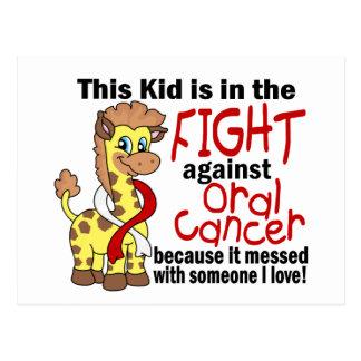 Niño en la lucha contra cáncer oral postal