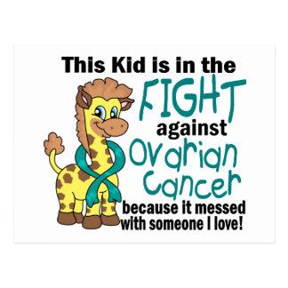 Niño en la lucha contra cáncer ovárico postal