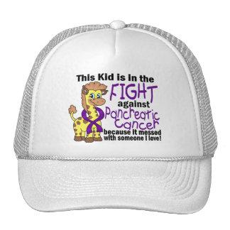 Niño en la lucha contra cáncer pancreático gorro