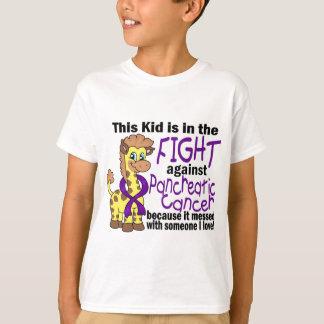 Niño en la lucha contra cáncer pancreático playera