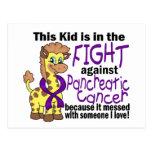 Niño en la lucha contra cáncer pancreático postal