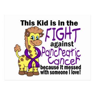 Niño en la lucha contra cáncer pancreático tarjetas postales
