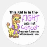Niño en la lucha contra cáncer pegatinas redondas