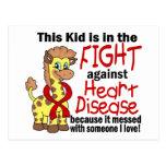 Niño en la lucha contra enfermedad cardíaca postales
