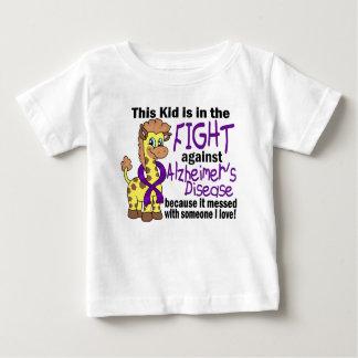 Niño en la lucha contra enfermedad de Alzheimer Playera De Bebé