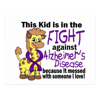 Niño en la lucha contra enfermedad de Alzheimer Tarjetas Postales