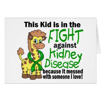 Niño en la lucha contra enfermedad de riñón tarjeta de felicitación