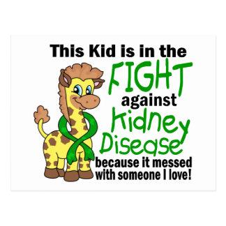 Niño en la lucha contra enfermedad de riñón postal