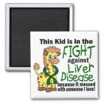 Niño en la lucha contra enfermedad del higado imán para frigorífico