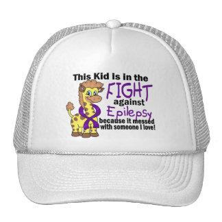 Niño en la lucha contra epilepsia gorros bordados