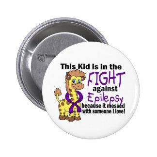 Niño en la lucha contra epilepsia pins