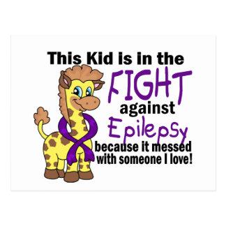 Niño en la lucha contra epilepsia tarjetas postales