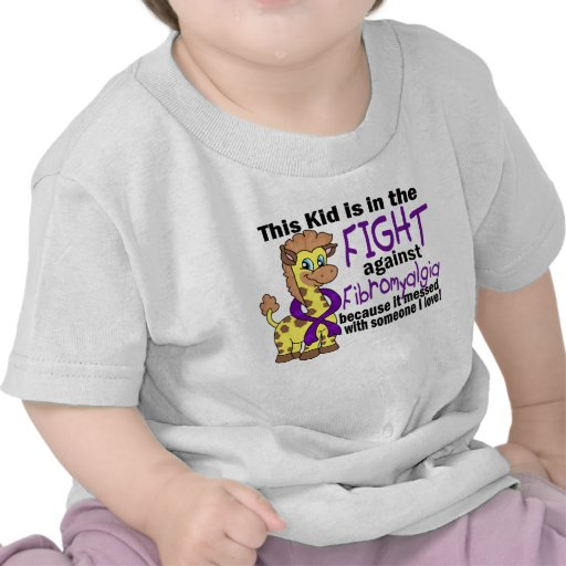 Niño en la lucha contra Fibromyalgia Camisetas