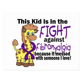 Niño en la lucha contra Fibromyalgia Tarjetas Postales