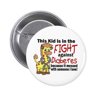 Niño en la lucha contra la diabetes pin