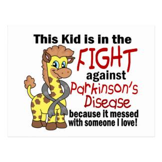 Niño en la lucha contra la enfermedad de Parkinson Tarjetas Postales