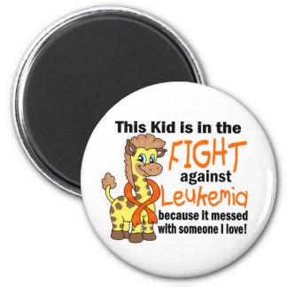 Niño en la lucha contra leucemia imán redondo 5 cm