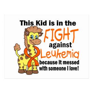 Niño en la lucha contra leucemia postal