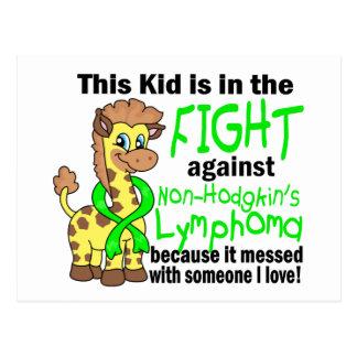 Niño en la lucha contra linfoma Non-Hodgkin Postal