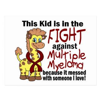 Niño en la lucha contra mieloma múltiple postales