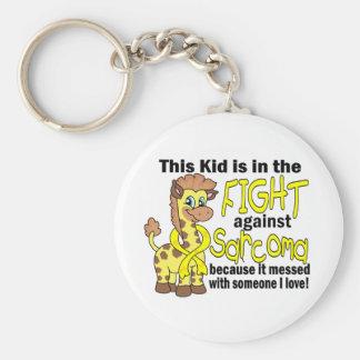 Niño en la lucha contra sarcoma llaveros