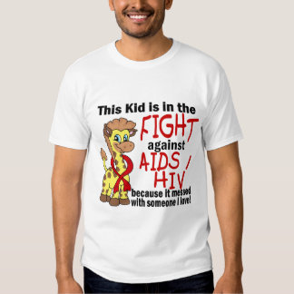 Niño en la lucha contra SIDA Playera