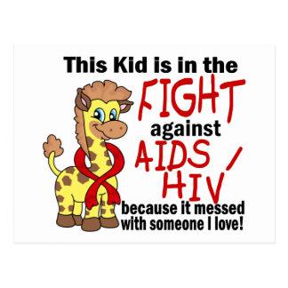 Niño en la lucha contra SIDA Tarjeta Postal