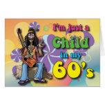 Niño en mis años 60 tarjeta