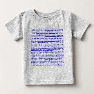 Niño esterlina de la camisa del diseño I del texto
