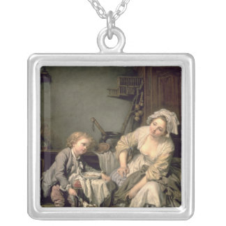 Niño estropeado, 1765 collar plateado