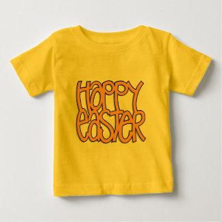Niño feliz del naranja de Pascua Playera De Bebé