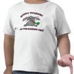 Niño feliz divertido del conejito de pascua camiseta