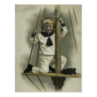 Niño From 1880 del marinero del libro del pedazo Tarjetas Postales