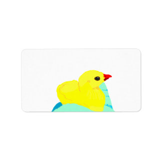 Niño grapic del polluelo de los niños azules amari etiqueta de dirección