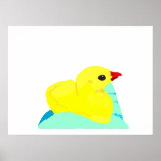 Niño grapic del polluelo de los niños azules amari posters