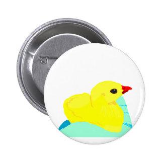 Niño grapic del polluelo de los niños azules amari pin redondo de 2 pulgadas