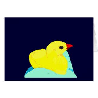 Niño grapic del polluelo de los niños azules amari tarjeta