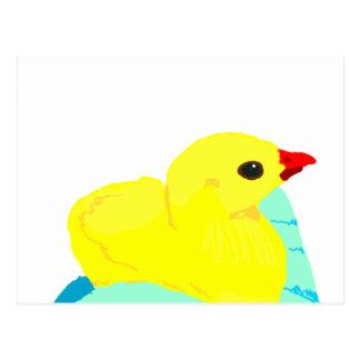 Niño grapic del polluelo de los niños azules amari tarjeta postal