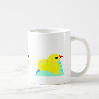 Niño grapic del polluelo de los niños azules amari taza de café