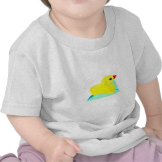 Niño grapic del polluelo de los niños azules camiseta
