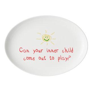 Niño interno badeja de porcelana