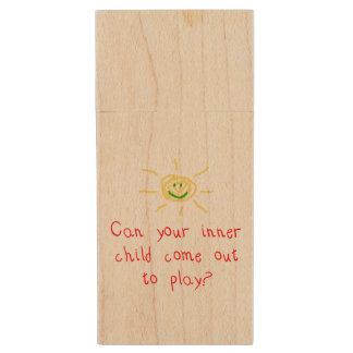 Niño interno pen drive de madera USB 2.0