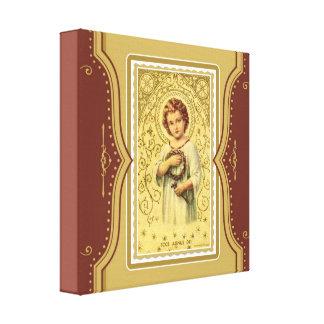 Niño Jesús de Cristo del vintage con las espinas y Impresiones En Lienzo Estiradas